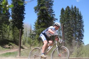 bikeparts.com owner, John Polli, racing fast in Vail