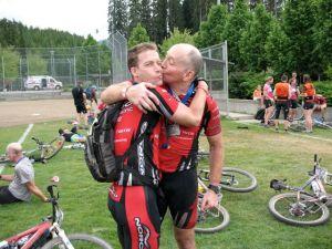 Garth kissing Dave
