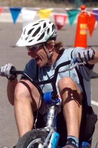 Jesse having fun on the big wheel - from Josh Kravetz
