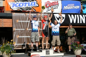All Mountain Super D Podium - Brian Laiho 2nd, Jesse Swift, 3rd