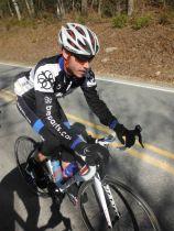 Joshua Murdock climbing Old Three Mile Highway in Linnville, North Carolina.