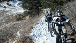 BikeParts.com Rider Enjoying Winter Cycling