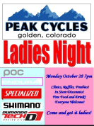 Ladies Night at Peak Cycles