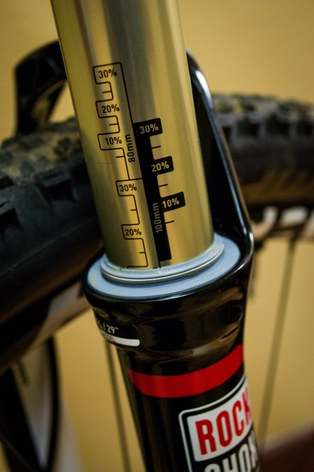 A recently serviced Rock Shox SID