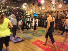 Yoga and Stretching at Peak Cycles/ BikeParts.com
