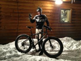 Peak Cycles/ BikeParts.com Teem Rider enjoying a Fat Bike