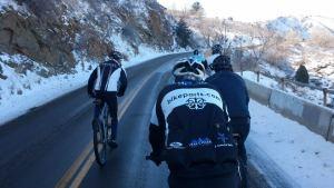BikeParts.com Team Riders Training in Spring Weather