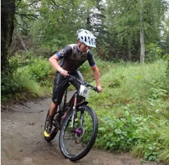 BikeParts.com Team Rider taking 4th at Soggy Bottom 100