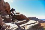 Peak Cycles Race Team rider Jake Lueckel dropping Amasa Back in Moab, Utah; Fall2016