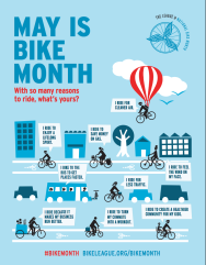 Happy National Bike Month Image courtesy of League of American Bicyclist